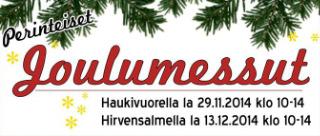 Joulumessut Haukivuoressa lauantaina 29.12.2014